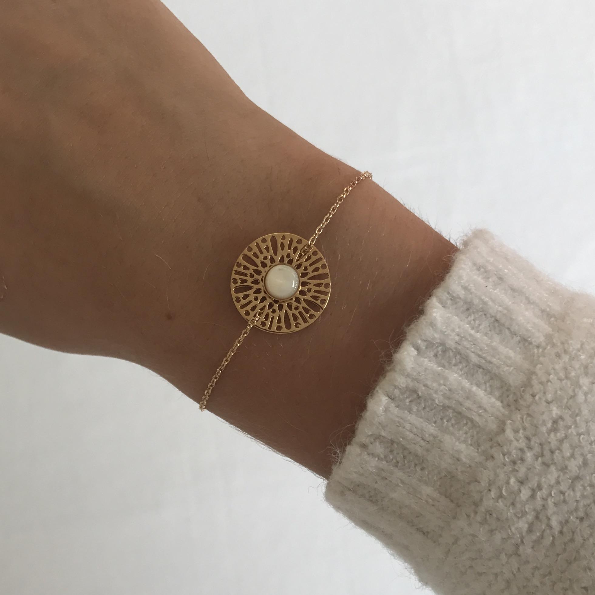 3b91bdca7c Dentelle bracelet Nacre