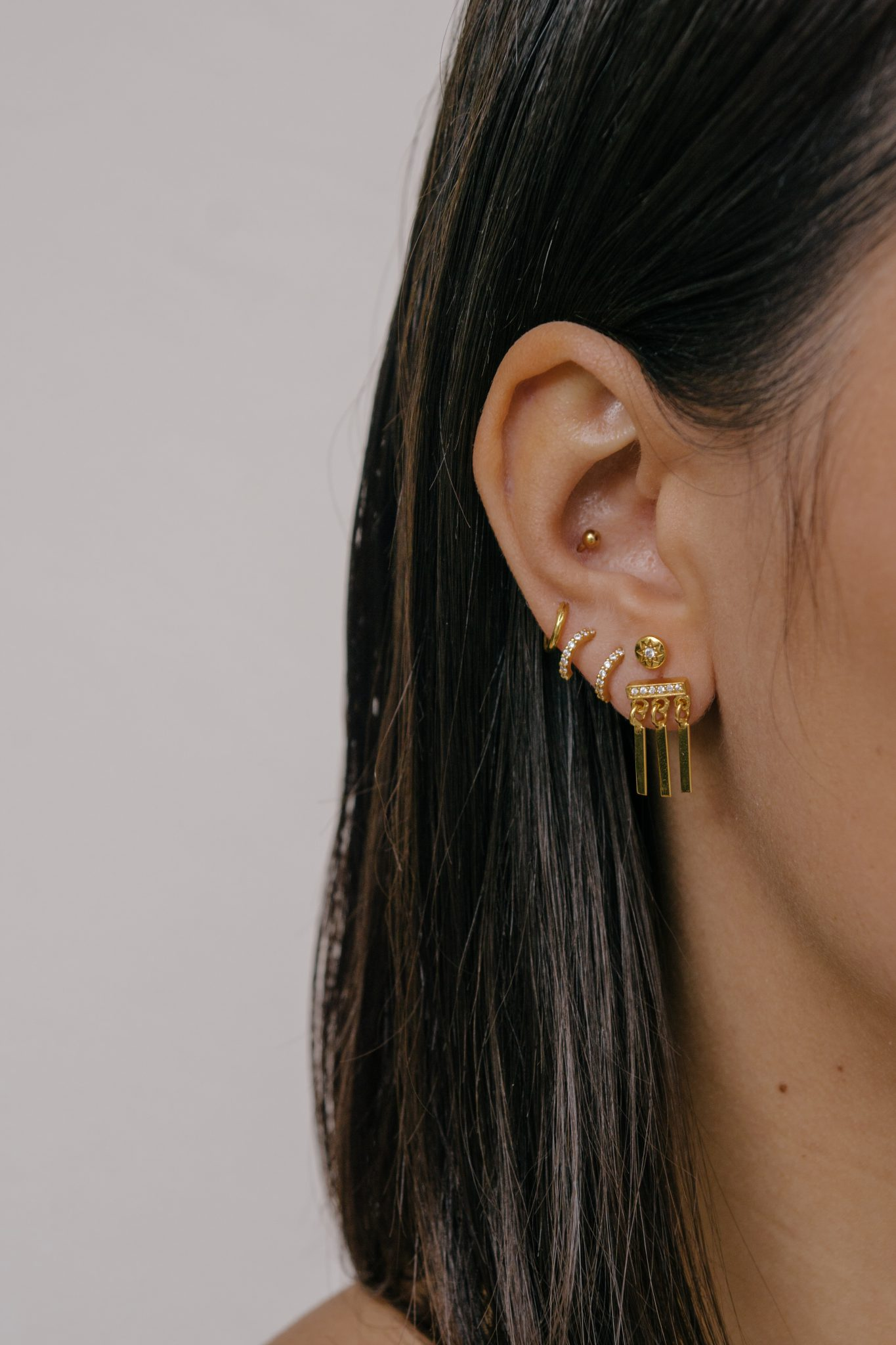 cf9a341e2 Zirconia hoops gold – silver – P'tite Folie