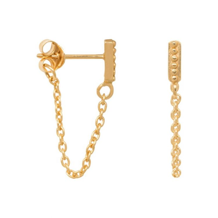 07c67905d HomeEarringsSmall dots chain earring – 1 piece – gold/silver. Previous